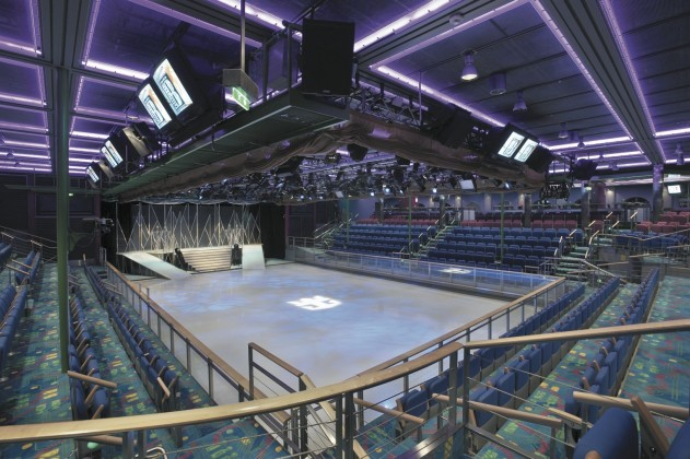 Explorer of the Seas has its own ice-skating rink which is another multi-purpose venue.