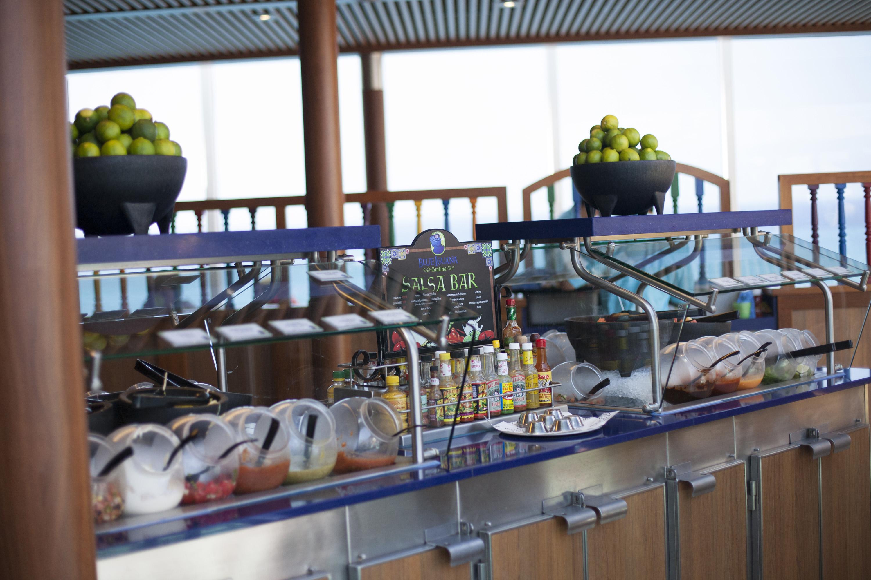 The outdoor buffet aboard Carnival Cruise Lines Australia Carnival Spirit.