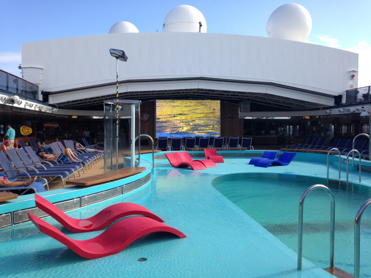 Selected areas of Carnival Spirit's outdoor decks are designated smoking areas.