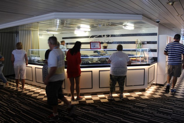 P&O's equivalent of the buffet is The Pantry, which offers multiple food options served as needed by chefs.