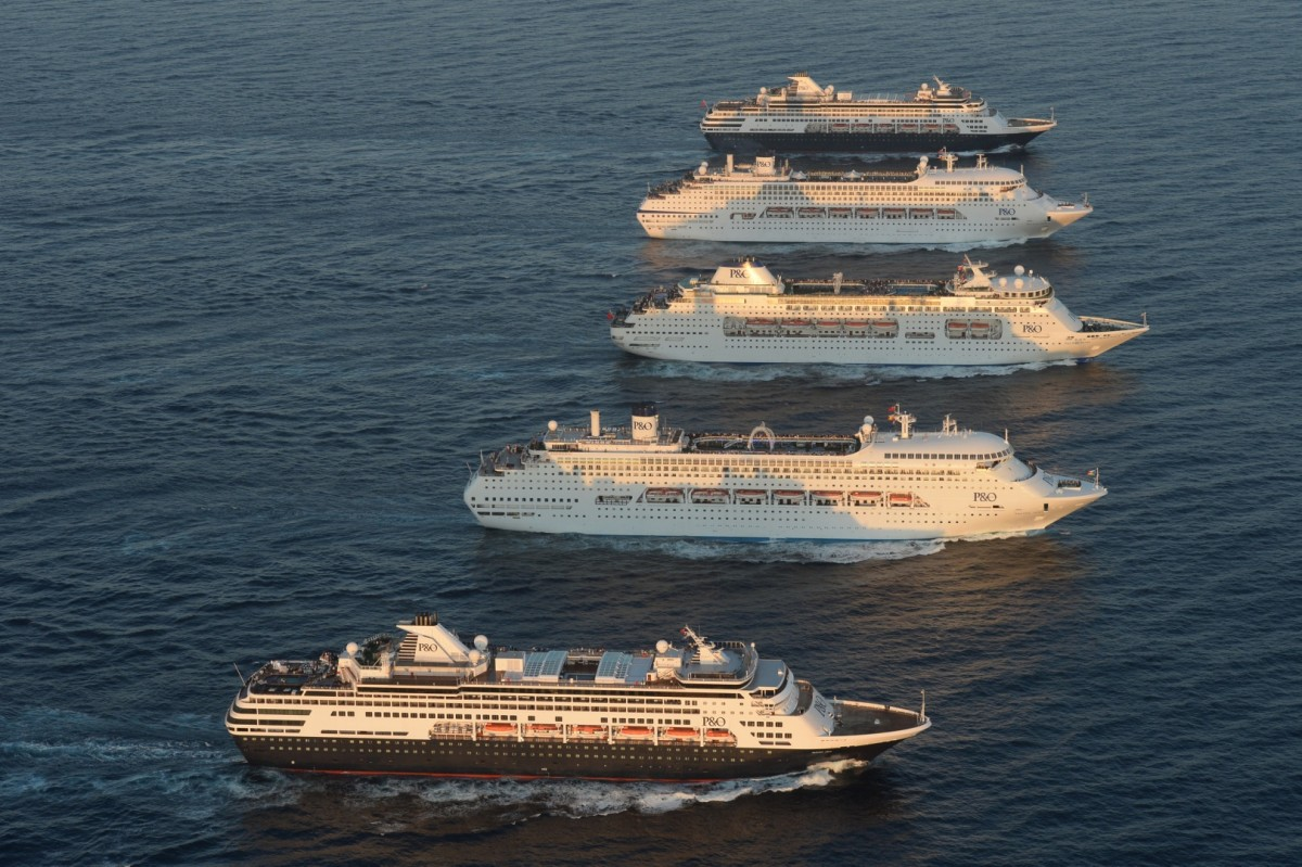 P&O Cruises five ships together