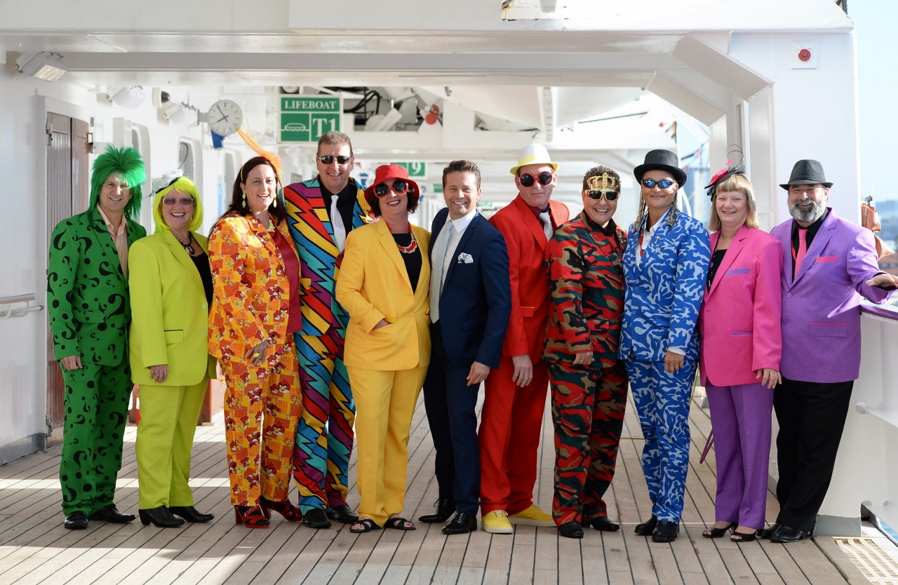 Fancy costumes on an Emirates Melbourne Cup P&O cruise