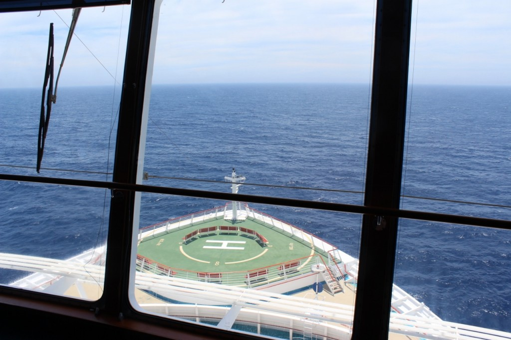 A view from the Bridge on Explorer of the Seas.