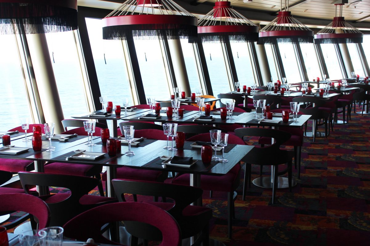 Izumi's location onboard is high above the ship, offering romantic views of the sea.