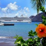Crystal Serenity off the Hawaiian Islands cruising in the USA