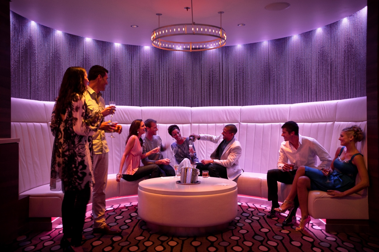 Quasar Nightclub aboard Celebrity Solstice affords patrons a futuristic space to boogie until the wee hours