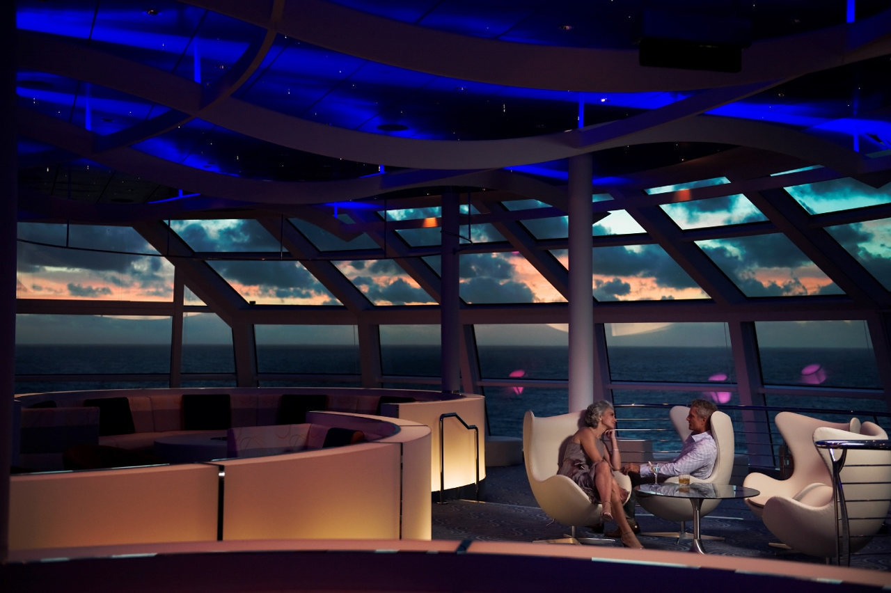 The Sky Observation Lounge provides fun themed parties at night, along with trivia and art auctions during the day