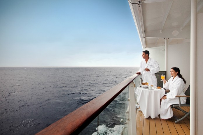 Relaxing on a Celebrity Solstice veranda stateroom