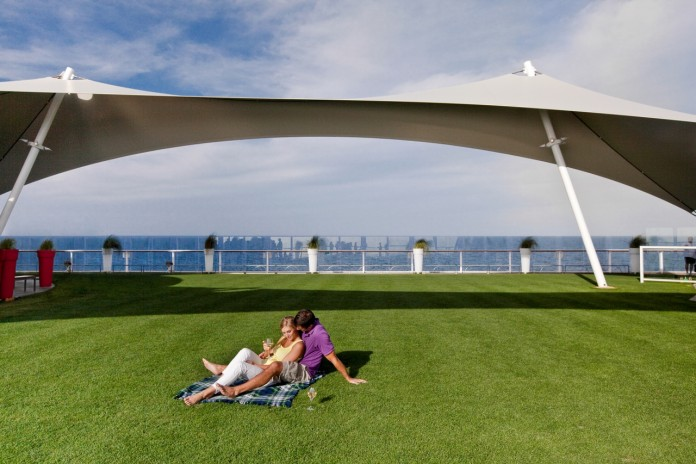 Lawn Club is a unique feature of Celebrity Cruises