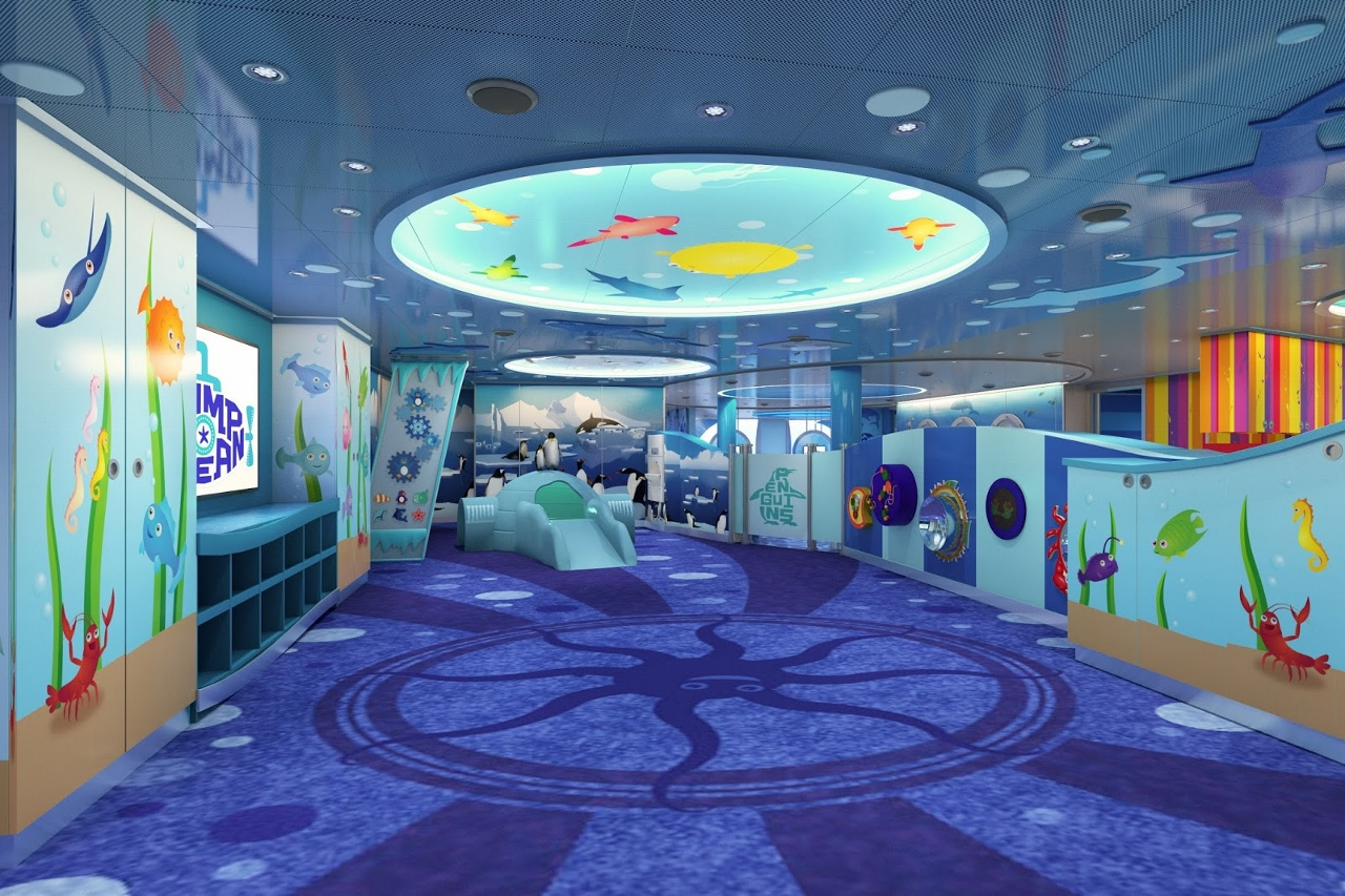 Camp Ocean and Creative Cove Kids Clubs are on Carnival Vista.