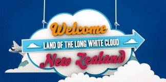 Welcome to New Zealand sign