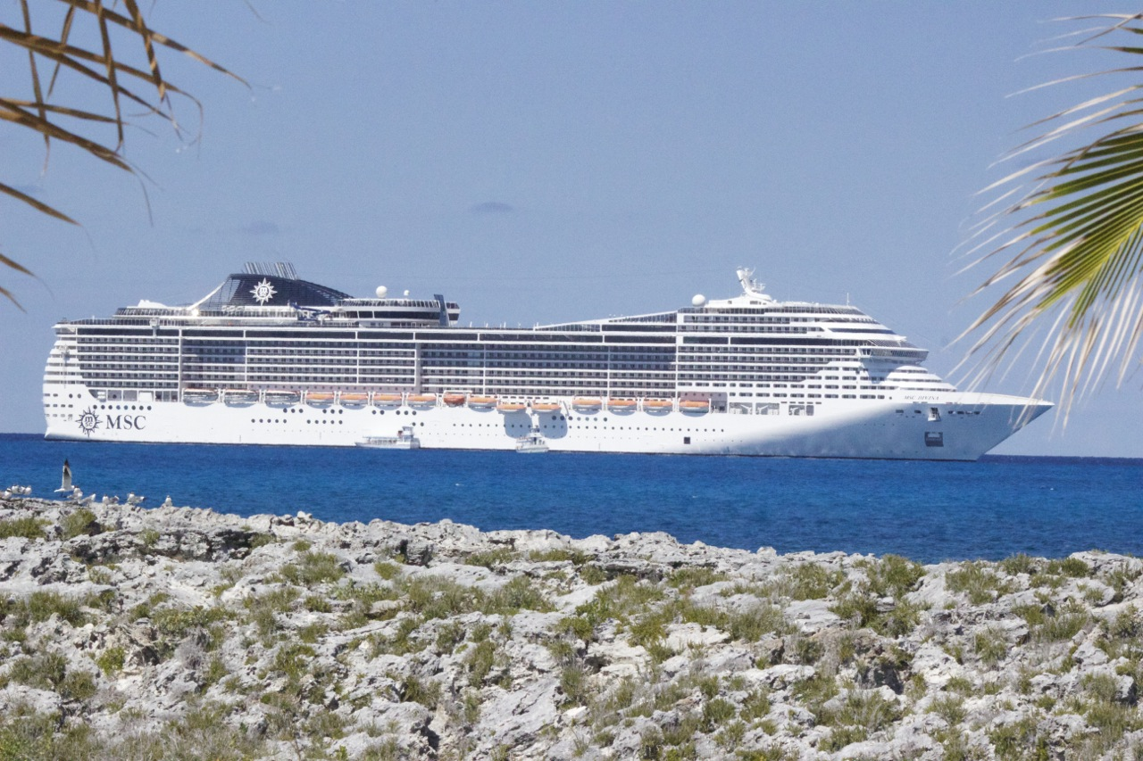 MSC Divina sailing in the Caribbean