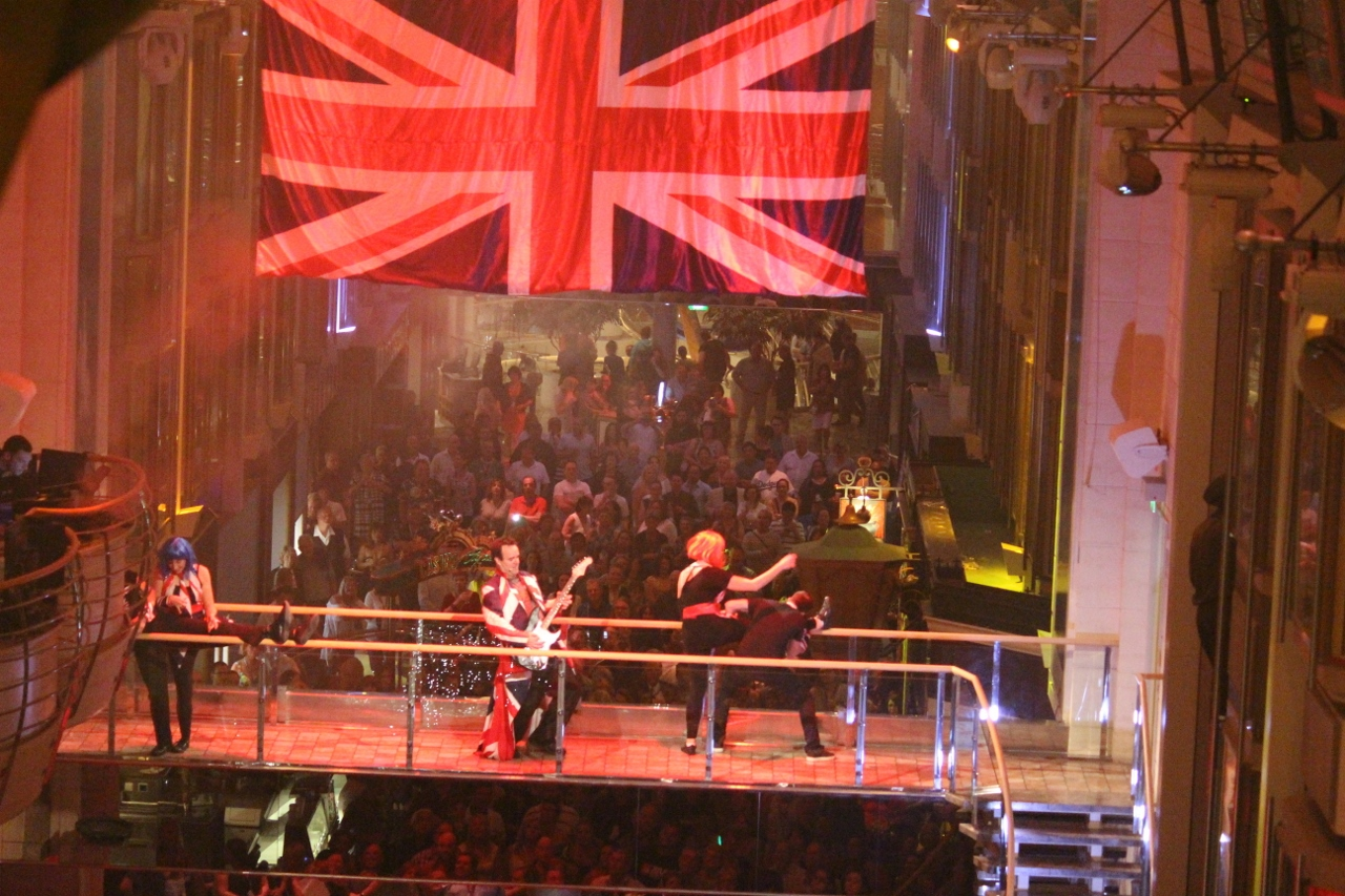 Explorer of the Seas has a great Rock Brittania show