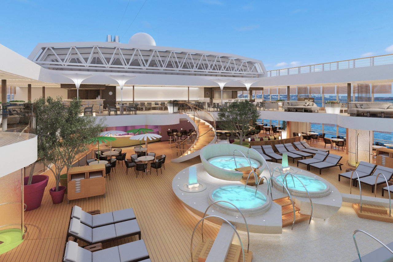 Top deck pool area will be well decorated on MS Koningsdam.