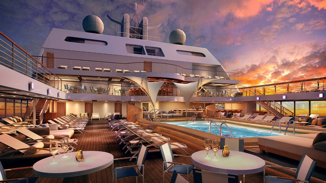 The ship is not quite finished but will offer a pool deck looking something like this.