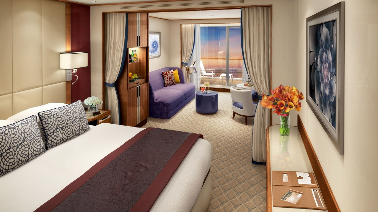 The ship isn't completely finished yet but will offer Veranda Suites looking like this.