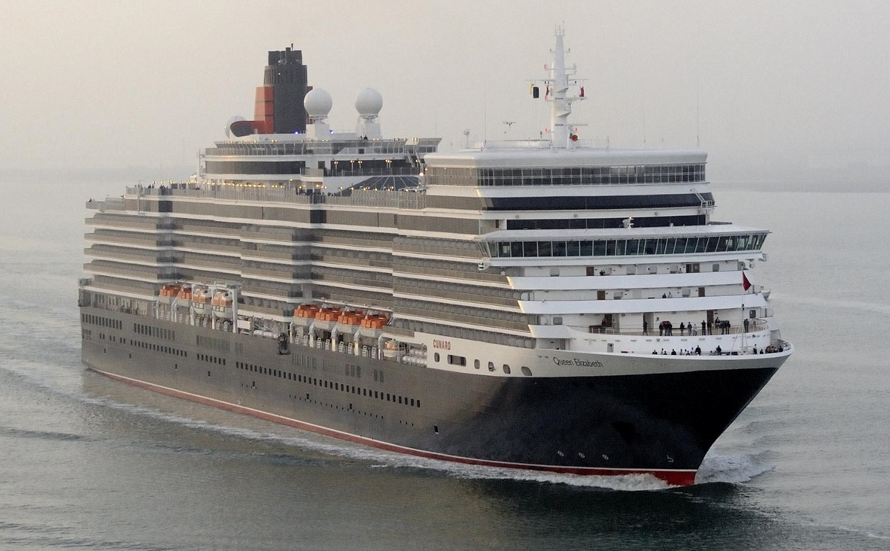 Queen Elizabeth is one of three ships which makes up the Cunard fleet.