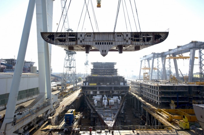 New cruise ship under construction for P&O, Princess and Costa