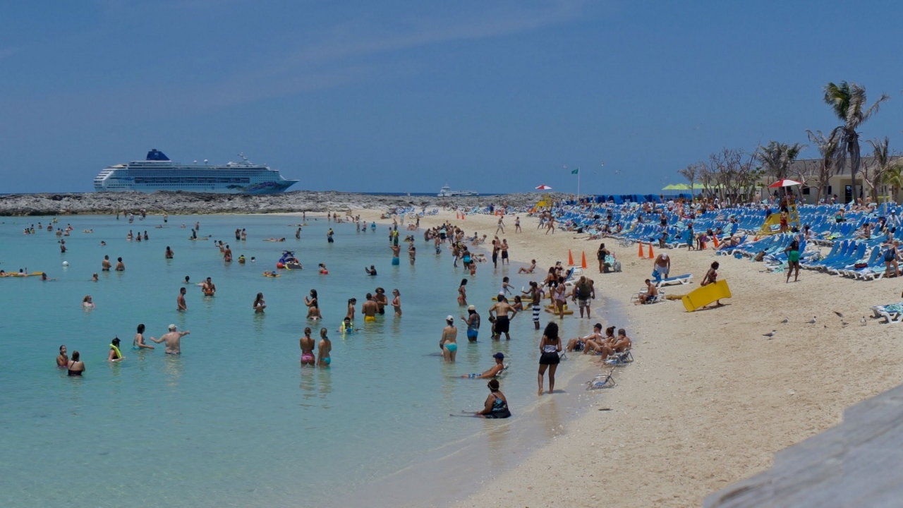 Norwegian Cruise Line visits Great Stirrup Cay.