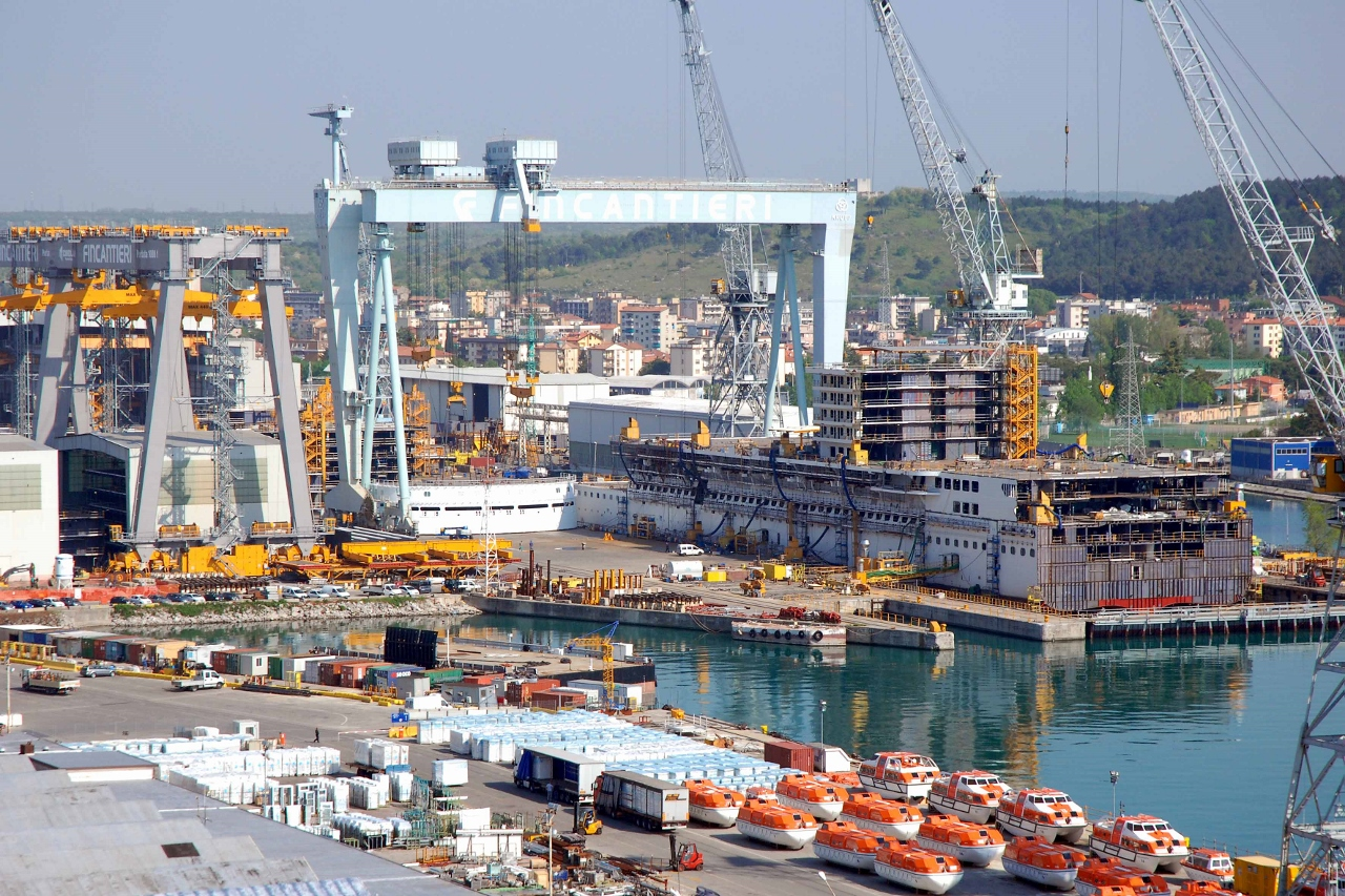 New ship being built at Fincantieri's Monfalcone shipyard