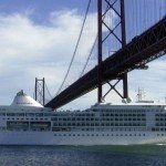 Silver Whisper sails under the Golden Gate Bridge