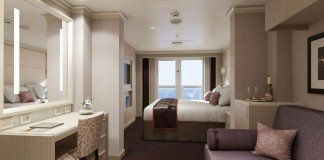 One of the higher room categories on MS Koningsdam