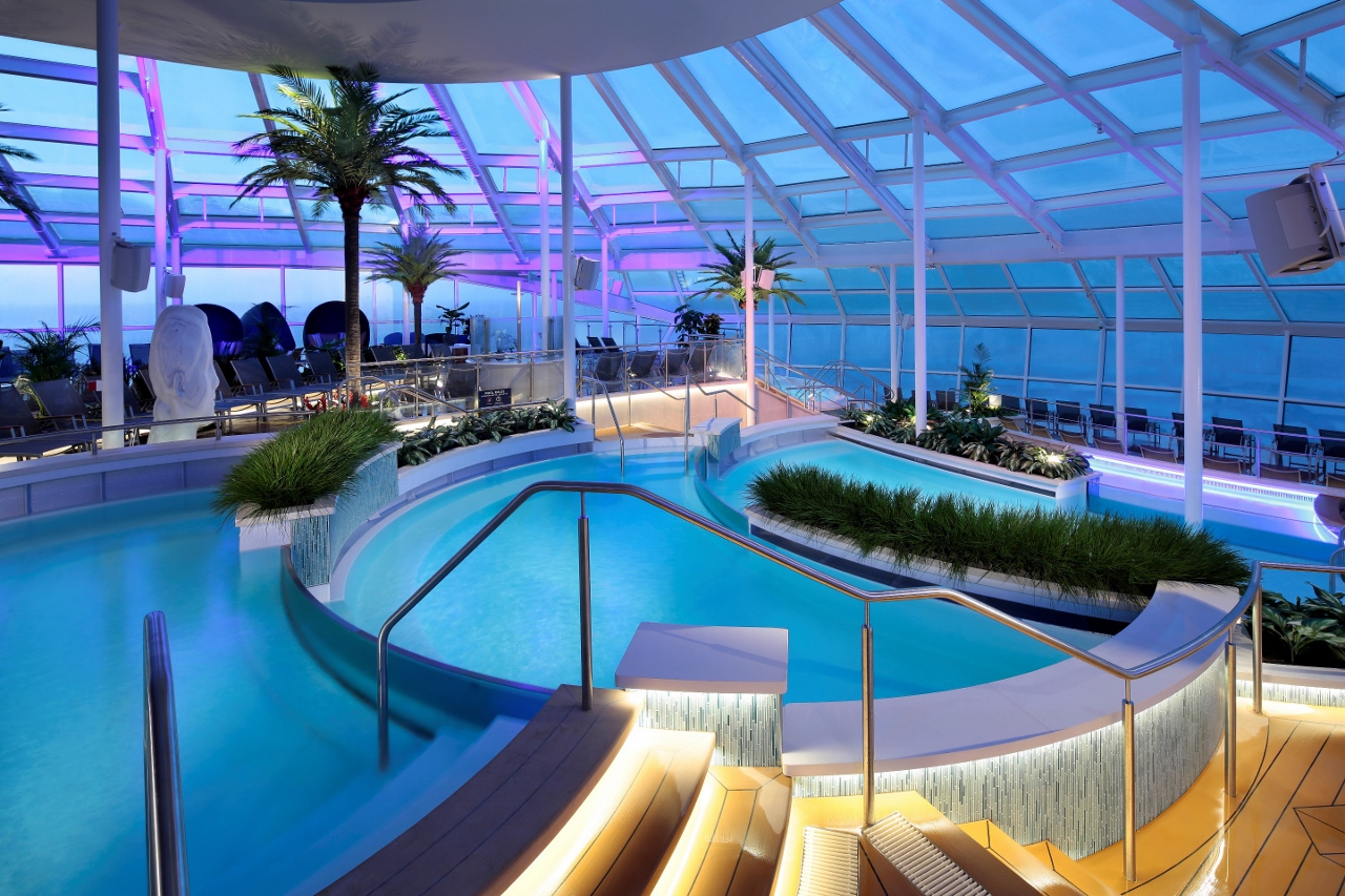 The Solarium on Ovation of the Seas will be a peaceful adults-only centre of tranquility.