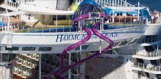 The Ultimate Abyss slide on Harmony of the Seas