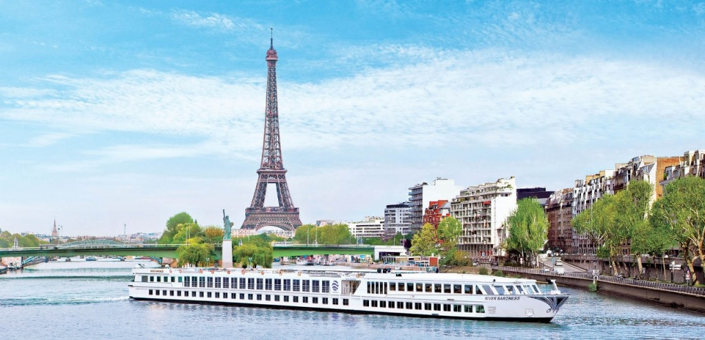 Scenic France River Cruise sails past Eiffel Tower