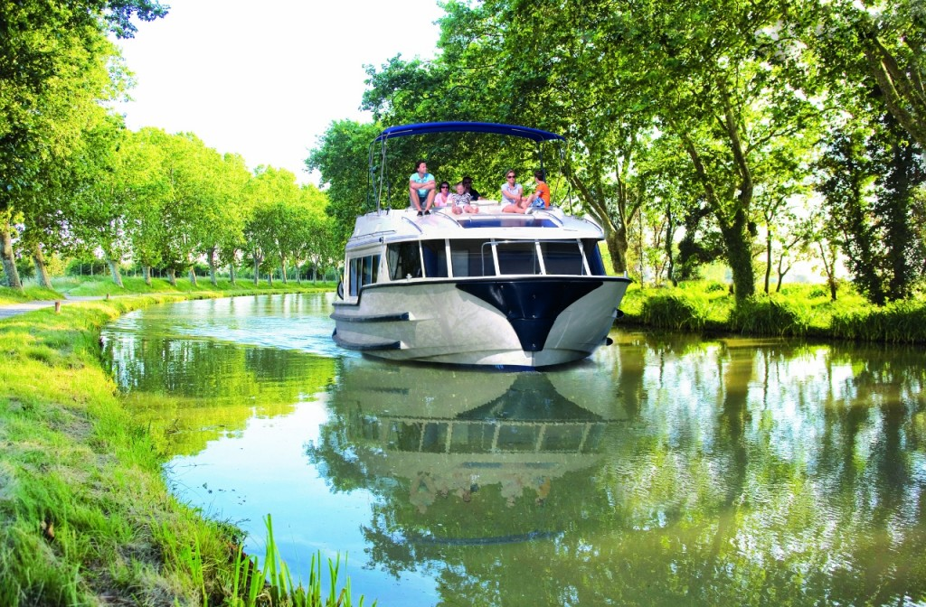 A Le Boat on the Canal Du Midi, France