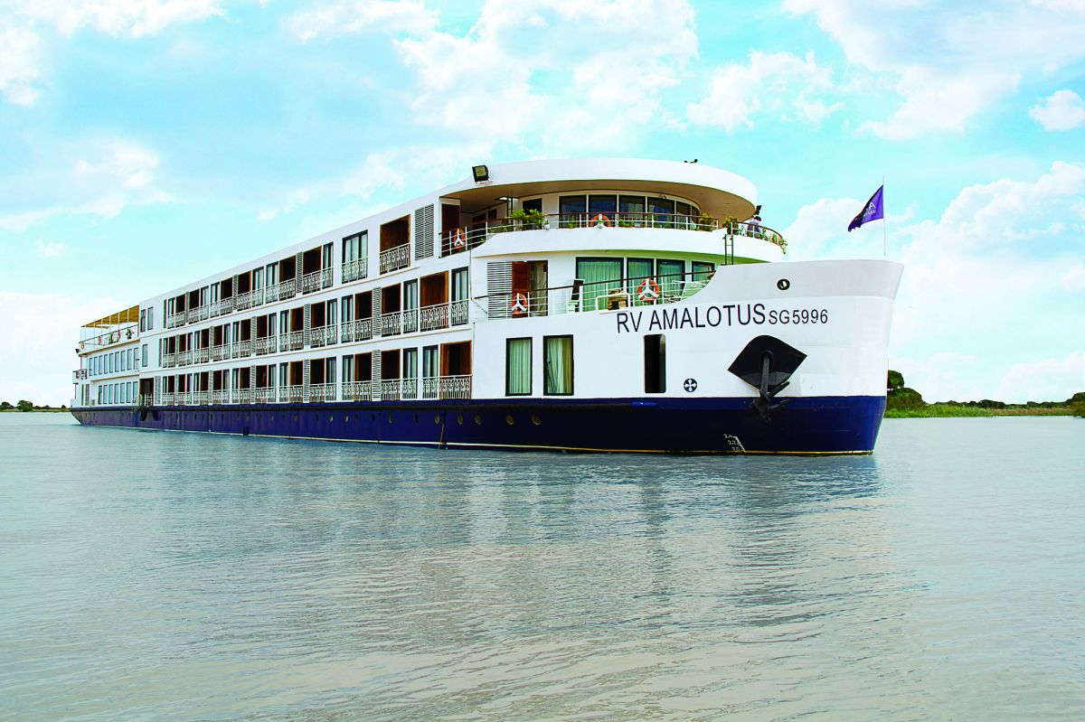 The RV AmaLotus sails on the Mekong River in Vietnam