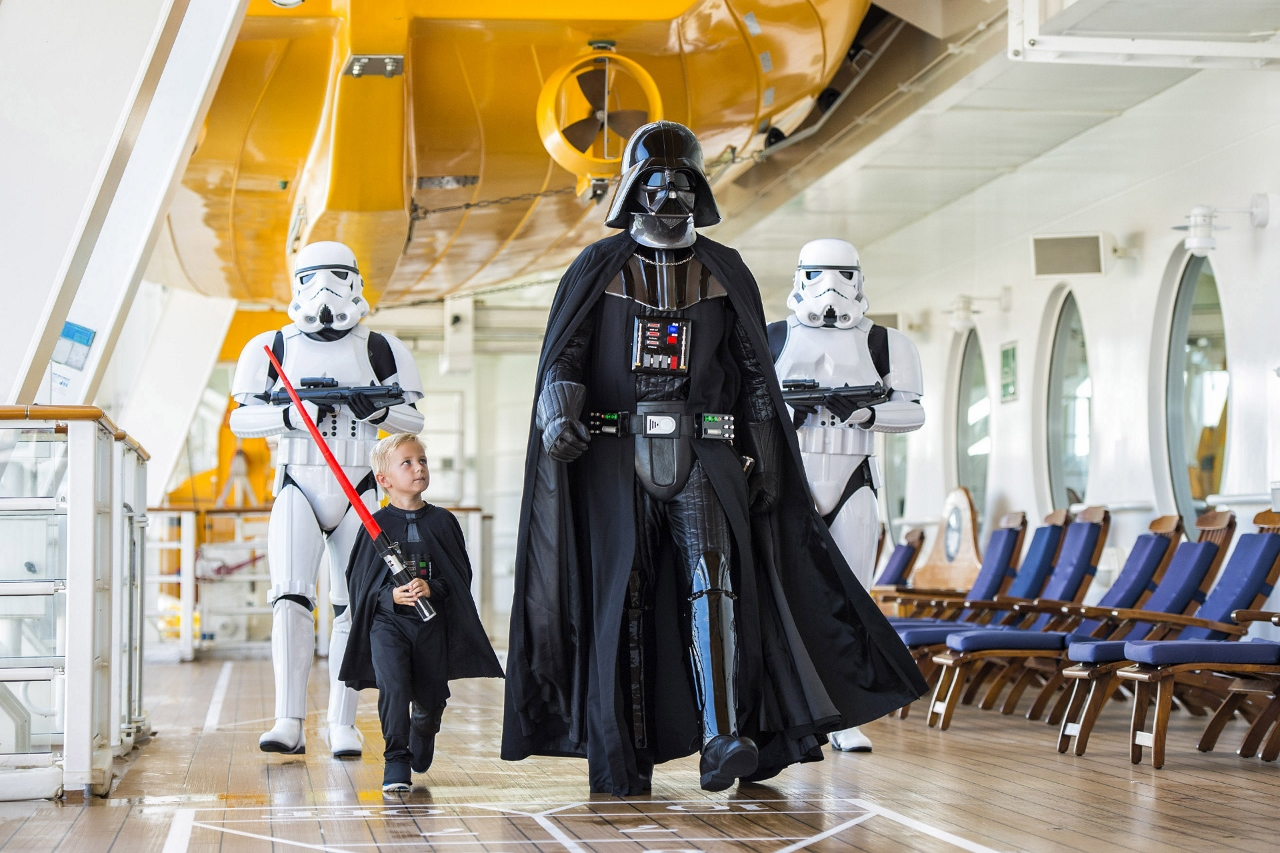 Darth Vader on Disney Cruise Line