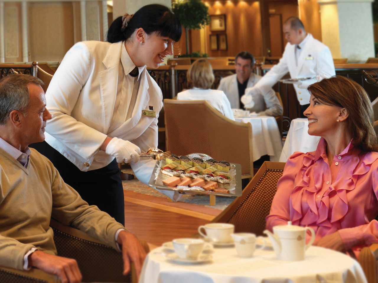 Solo travellers on Cunard can meet others for morning tea on sea days.