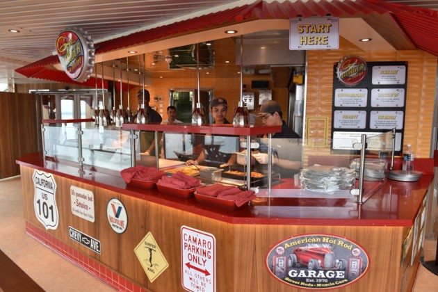 Carnival Inspiration will receive Guy's Burger Joint