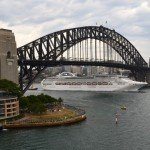 Princess Cruises' Sea Princess sails out from Sydney on a world cruise.