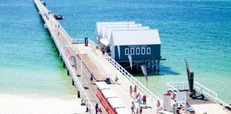The Busselton Jetty sits near the region's famous wineries.