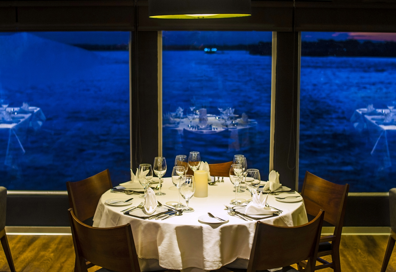 Guests will enjoy fine dining in the Aqua Amazon