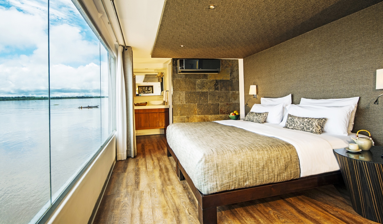 Similar accommodations to the Amazon Suite on the Aqua Amazon will feature on the new ship.
