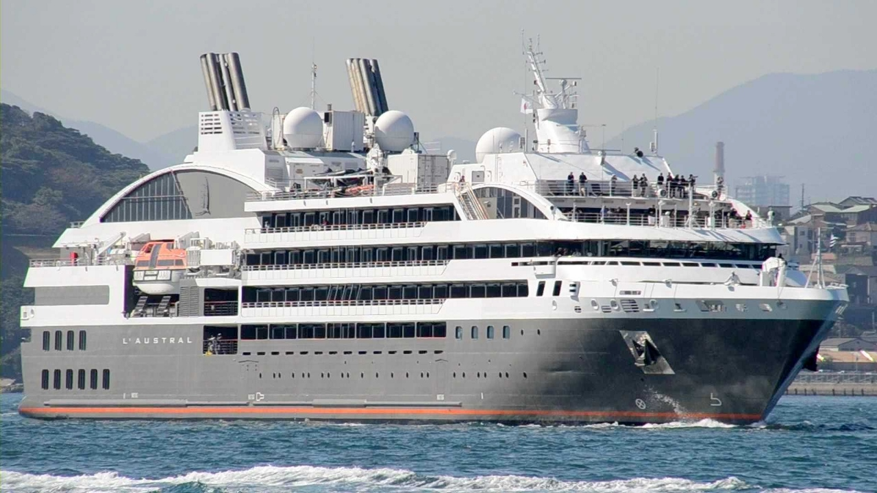 One of Ponant's four yachts L'Austral.