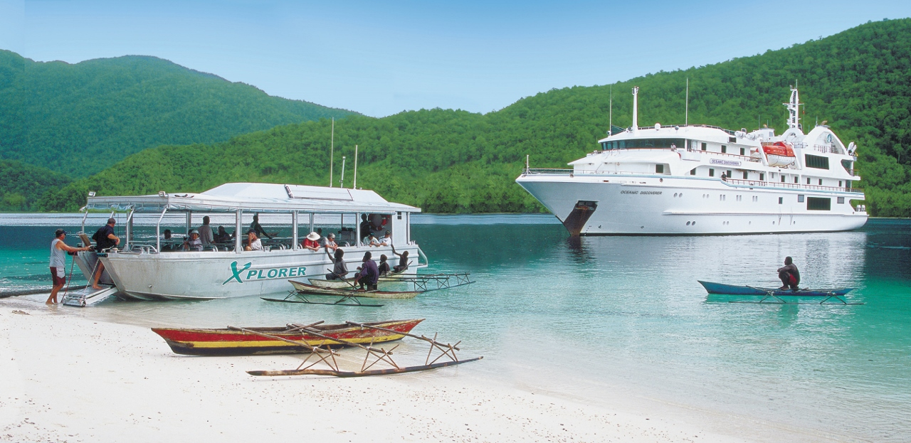 Coral Discoverer carries an Explorer shallow-draft boat which can deliver travellers directly onto the shore.