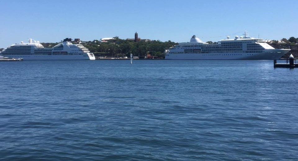 Seabourn Odyssey and Silver Whisper make up the numbers at White Bay.