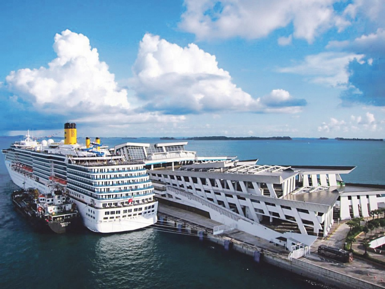 Cruise ships depart daily from Singapore