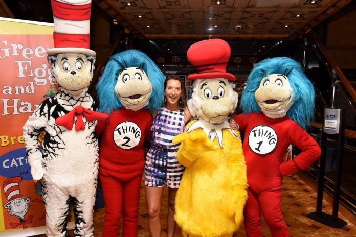 Surfing champion Layne Beachley lands in with Carnival's Seuss at Sea characters