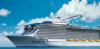 Royal Caribbean's brand new Ovation of the Seas.
