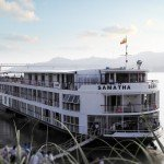 The RV Samatha sails along the Irrawaddy River for APT.