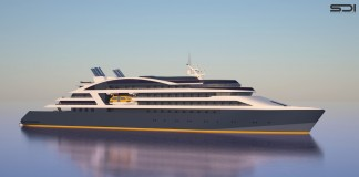 A rendering of one of Ponant's four upcoming ships.