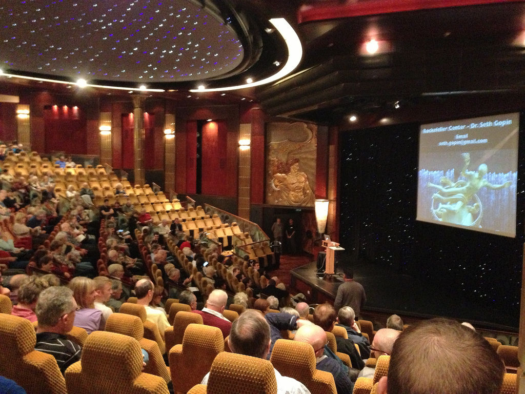 Guest lecturers share their expertise on many subject during the Cunard Insights series.