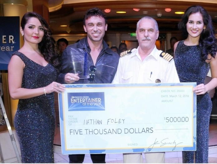 Aussie Nathan Foley awarded Princess Cruises Entertainer of the Year