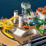 Like its sister Carnival Spirit, Carnival Legend is also loaded with activities including the Green Thunder waterslide, a mini-golf course and multiple swimming pools.