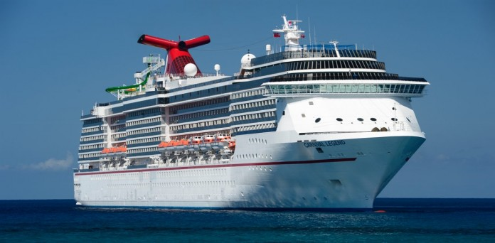 Carnival Legend at sea off the Australian coast.